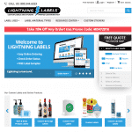 Lightning Labels Custom Labels and Stickers Magento Replatform Homepage