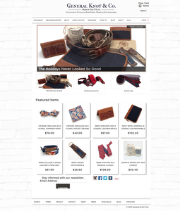 General Knot & Co Shopify eCommerce Store Homepage