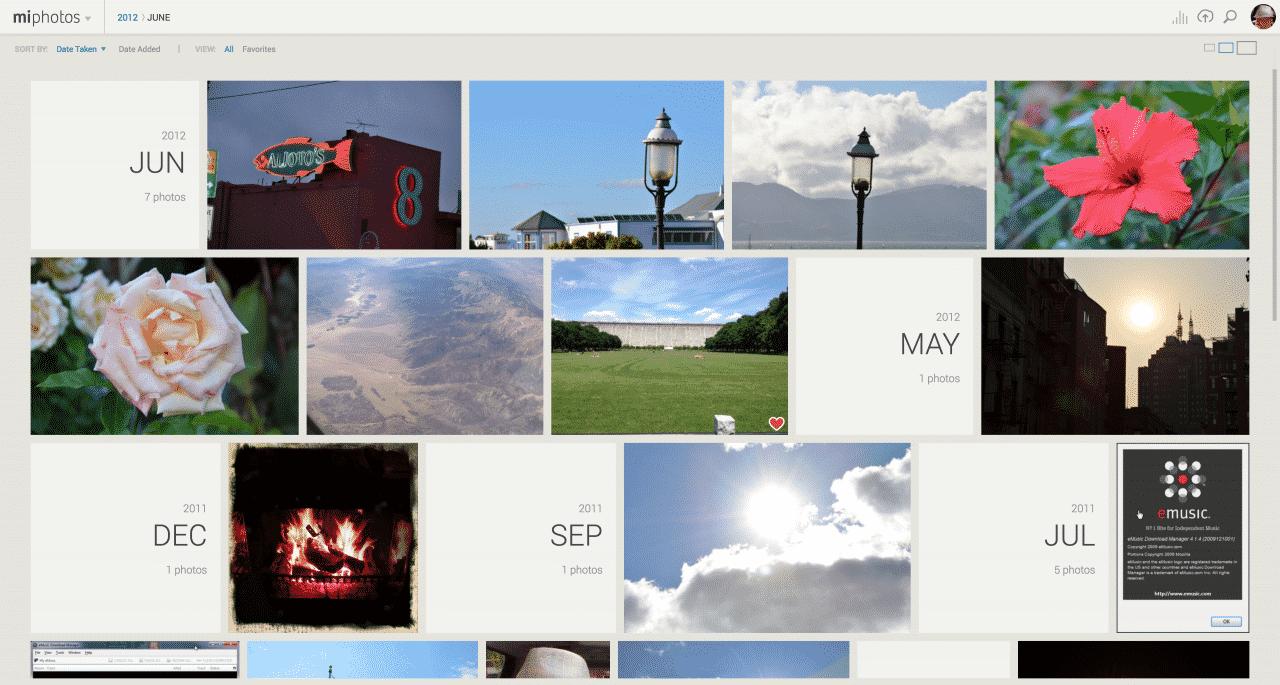MiMedia Personal Cloud Redesign and Replatform Photos