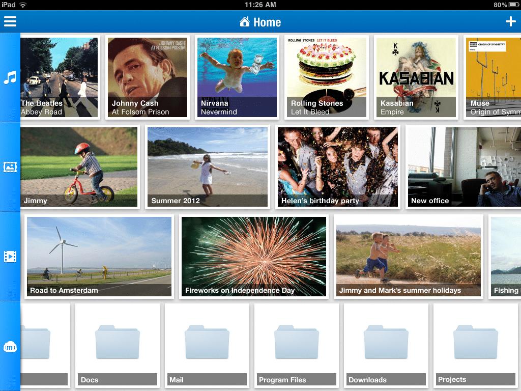 MiMedia iPad Redesign