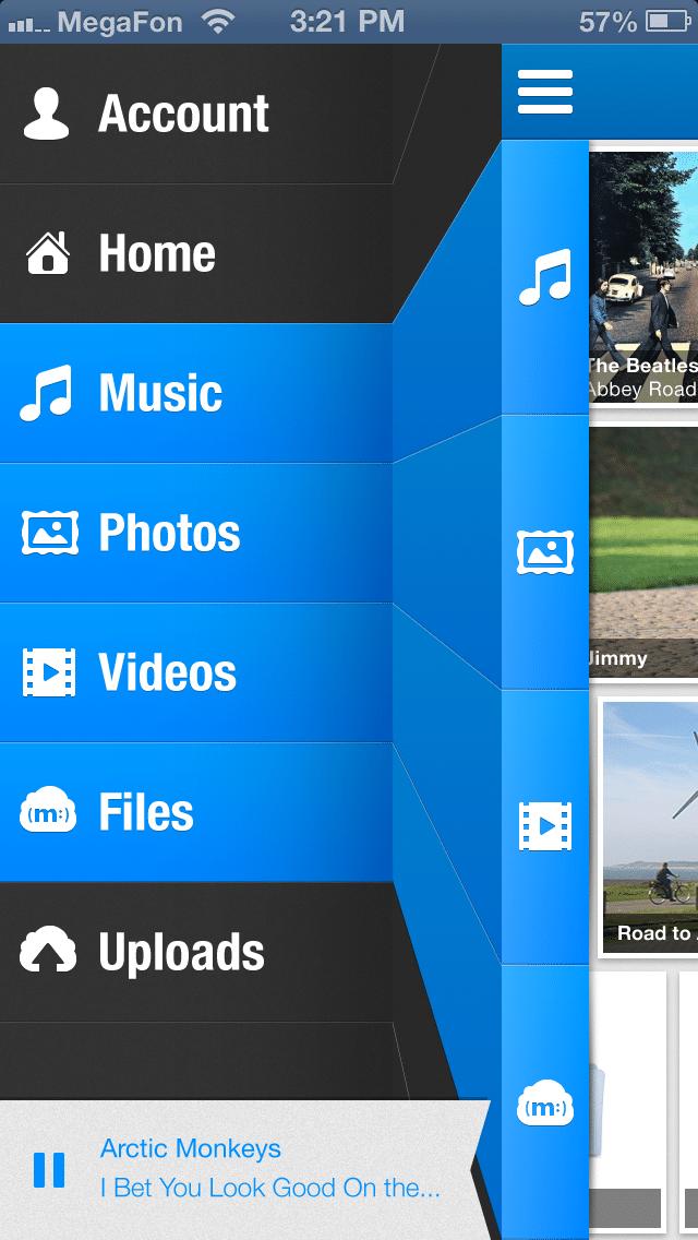 MiMedia iPhone Sidebar Now Playing