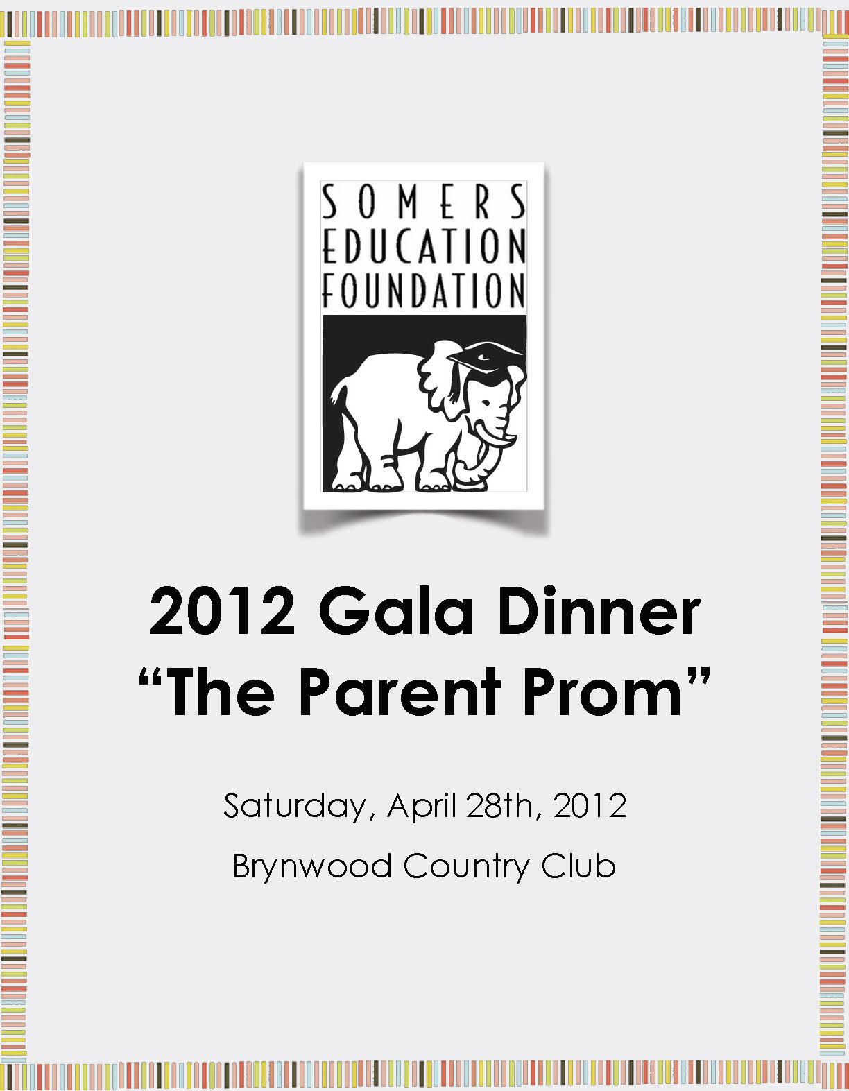 Somers Education Foundation 2012 Printed Gala Dinner Program Cover