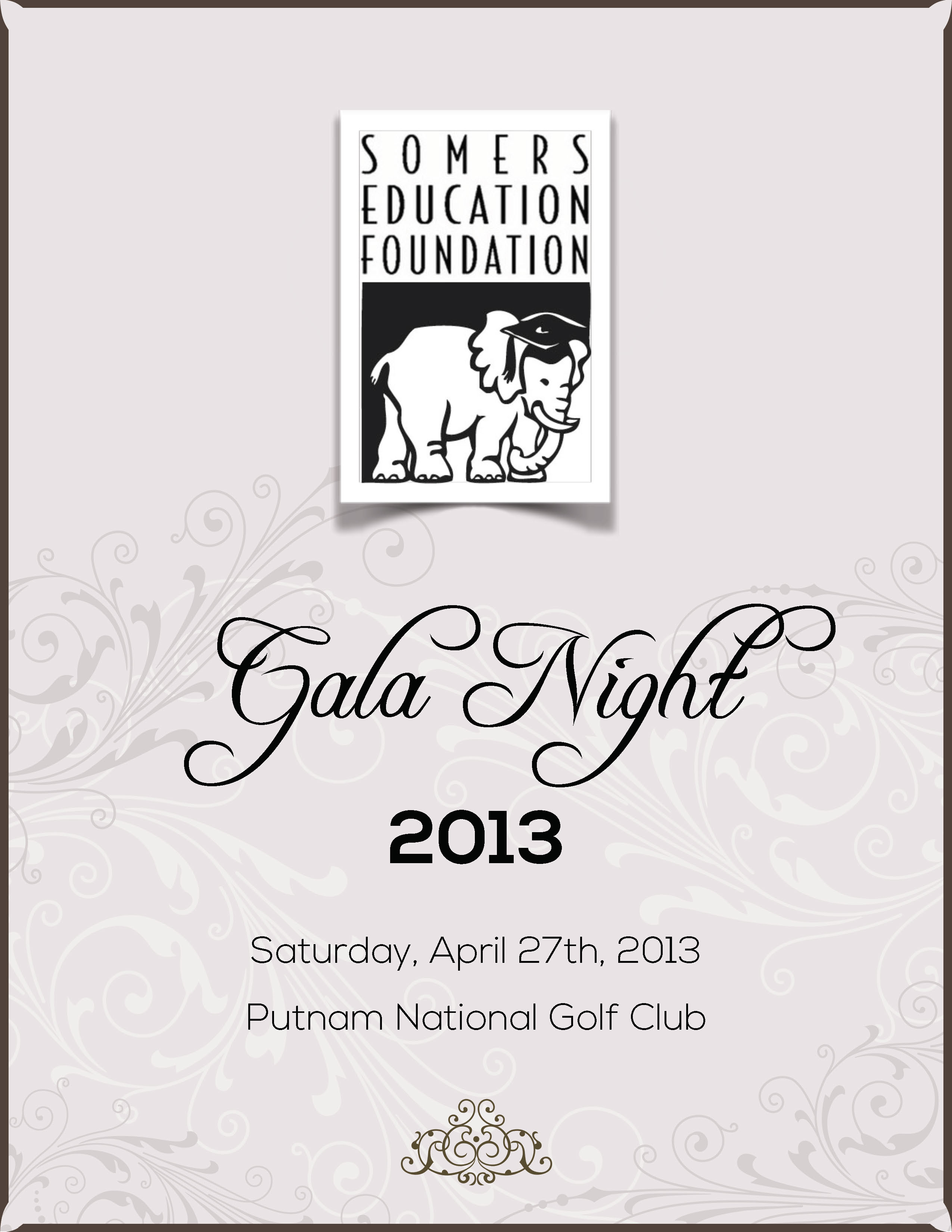Somers Education Foundation 2013 Printed Gala Dinner Program Cover
