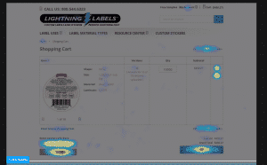 Lightning Labels' eCommerce Hotjar Heatmap Page