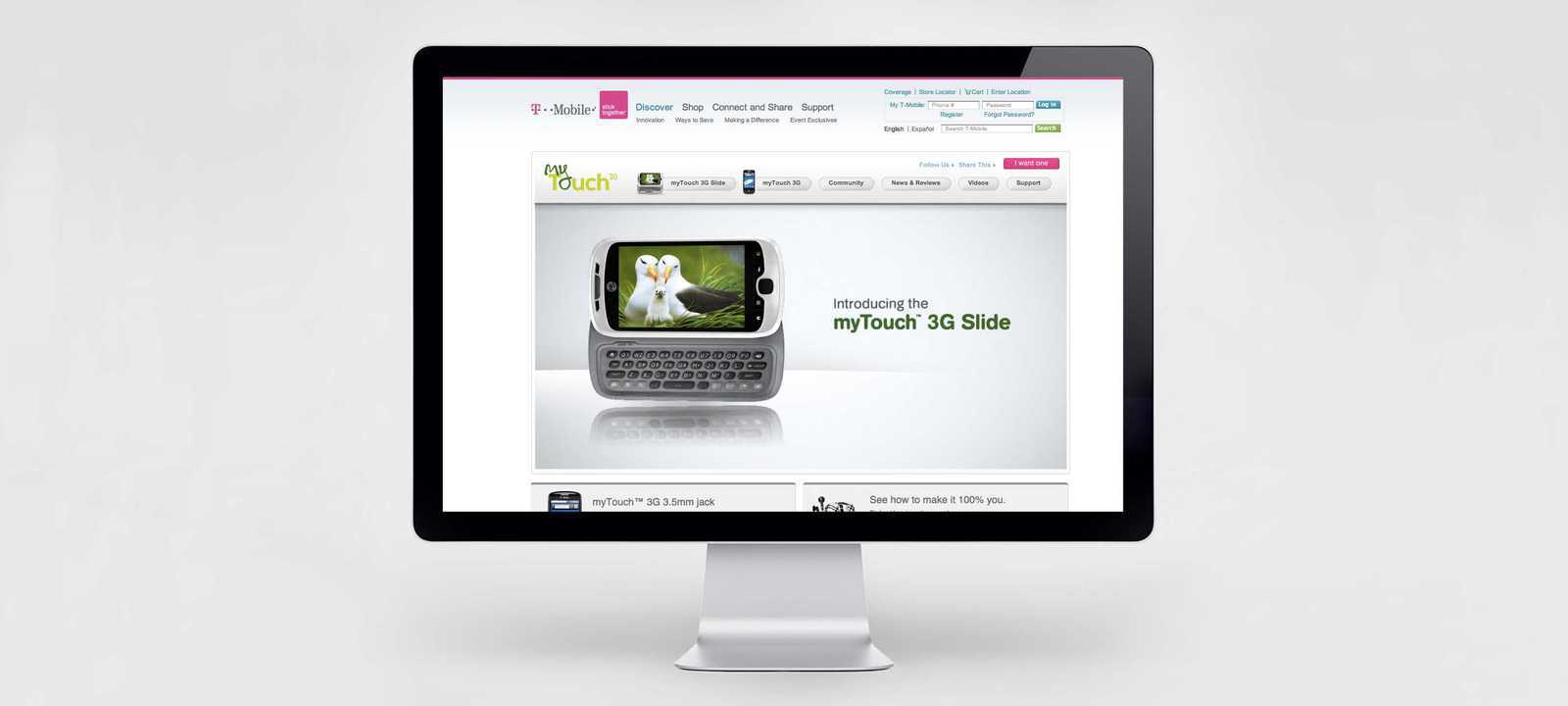 T-Mobile Cell Phone Launch Page